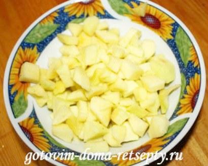 штрудель из слоеного теста с яблоками 4