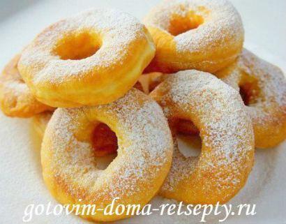 как приготовить пончики из теста