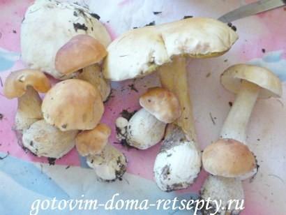 грибной суп из сушеных грибов 1