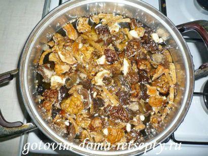 грибной суп из сушеных грибов 3