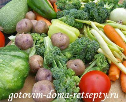 овощное рагу с кабачками 1