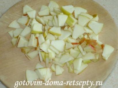 оладьи на кефире с яблоками5