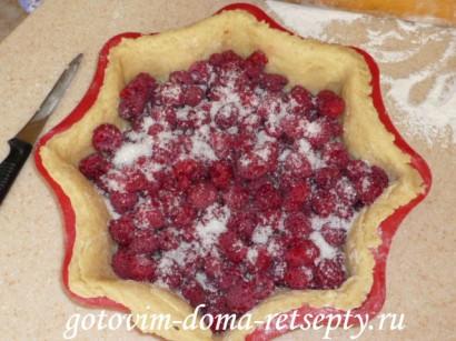 пирог с малиной рецепт9