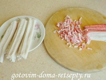 салат из крабовых палочек с огурцами 6
