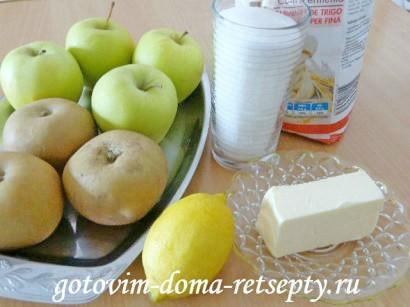 простой яблочный пирог 1