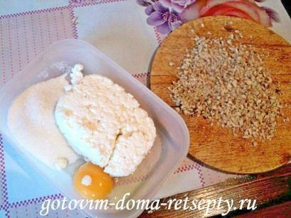 песочный пирог с творогом и бананами 2