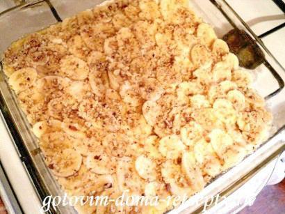 песочный пирог с творогом и бананами 4