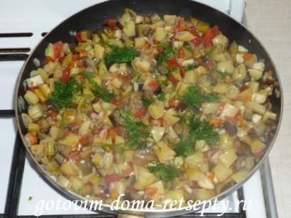овощное рагу из баклажанов 5