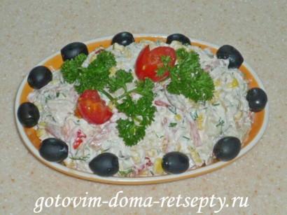 салат с курицей и ананасами рецепты1
