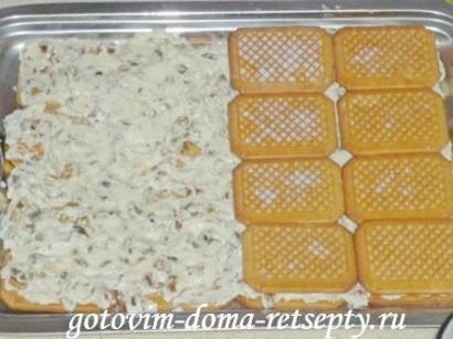 торт из печенья без выпечки с творогом 12