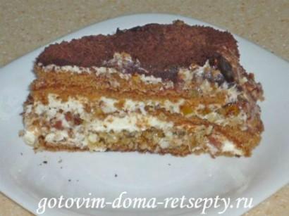 бисквитный торт на сметанном креме 10