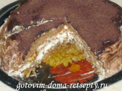 бисквитный торт на сметанном креме 9
