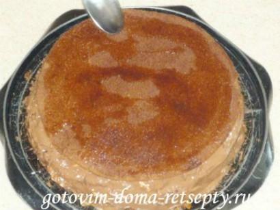 шоколадный бисквитный торт с зефиром 18