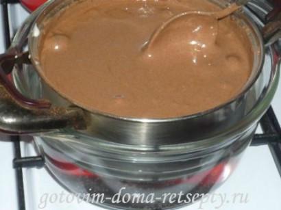 шоколадный бисквитный торт с зефиром 5