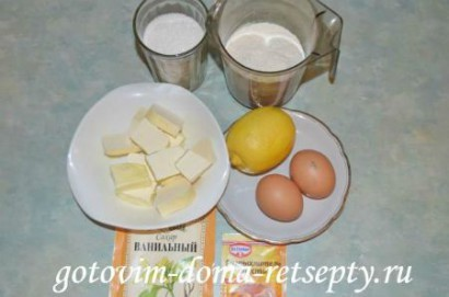 Лимонный пирог, рецепт 1