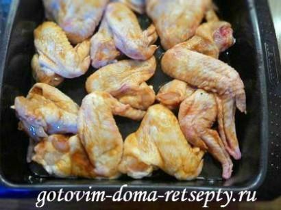 куриные крылышки в духовке, в соусе 5