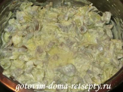 куриные желудки, рецепт в сметане 10