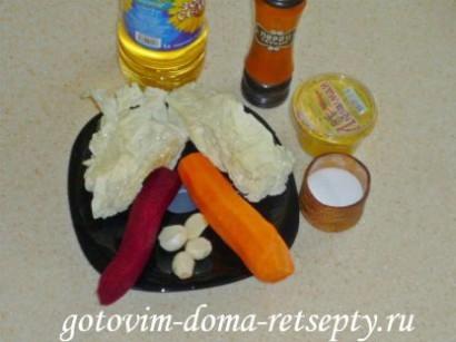 салат из капусты, свеклы и моркови 1