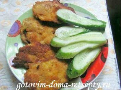 отбивные из куриного филе в кляре 1
