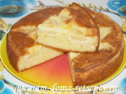яблочный пирог на сметане 1