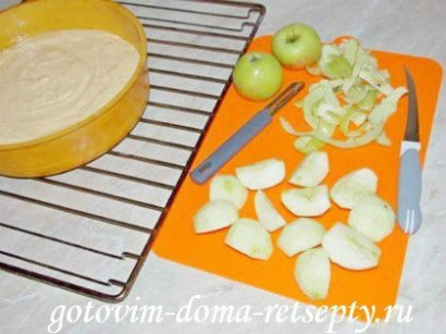 яблочный пирог на сметане 7