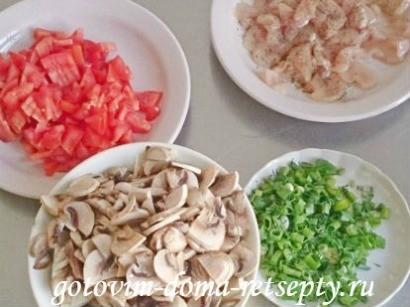курица с грибами и помидорами 2