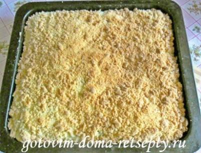 песочный пирог с творогом и изюмом 11