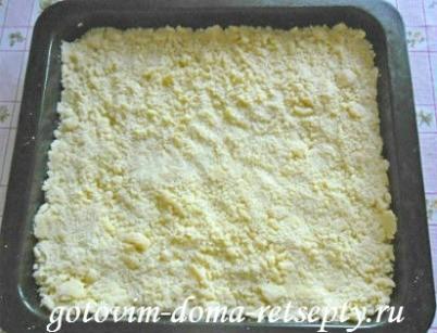 песочный пирог с творогом и изюмом 7