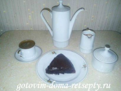 шоколадный бисквит, рецепт с орехами 1