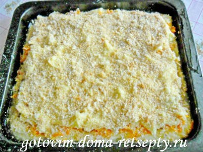 картофельная запеканка с морковью и орехами 9