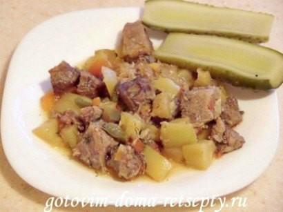 мясо с кабачками и помидорами