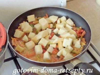 мясо с кабачками и помидорами 8
