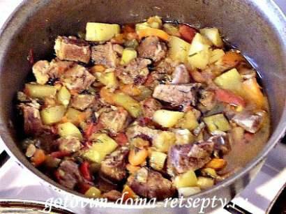 мясо с кабачками и помидорами 9