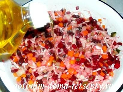винегрет классический, рецепт с фасолью 5