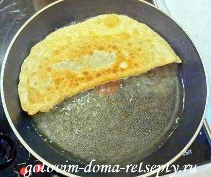 чебуреки с мясом, тесто для рецепта 14