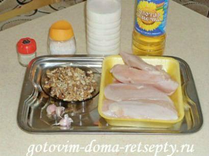 куриное филе с орехами, запеченное в духовке 11
