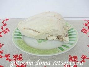 Куриная грудка с яблоками и черносливом 2