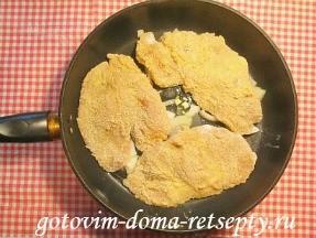 куриные отбивные с сыром и грибами 12