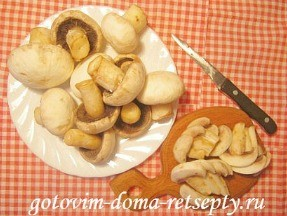 куриные отбивные с сыром и грибами 5