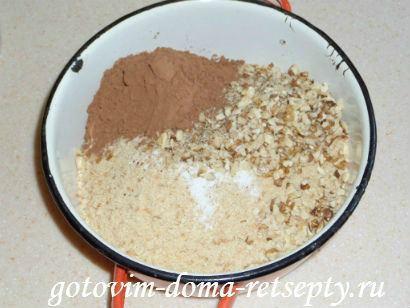 шоколадный торт из печенья и желе 5