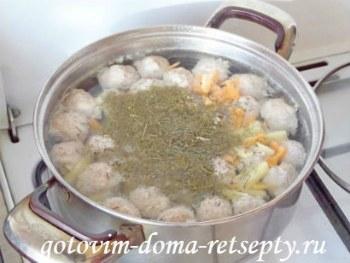 суп с фрикадельками, рецепт с фото 10