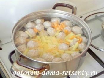 суп с фрикадельками, рецепт с фото 9