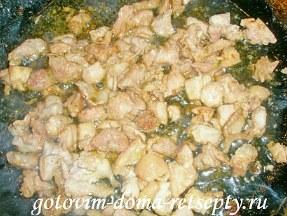 блинчики с грибной и куриной начинкой 6