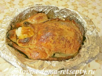 утка запеченная в духовке, рецепт с яблоками 11