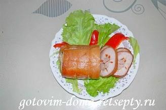 свиной рулет, рецепт в духовке