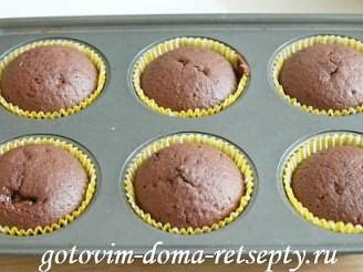 капкейки шоколадные с начинкой и кремом шантильи 14
