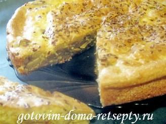 заливной пирог с грибами в духовке