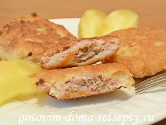 картофельные драники с фаршем