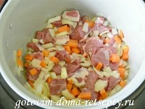 мясо тушеное с овощами в мультиварке 8
