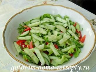 Греческий салат с брынзой, рецепт 5